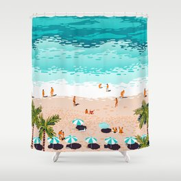 Dream in Colors Borrowed From The Sea #illustration Shower Curtain