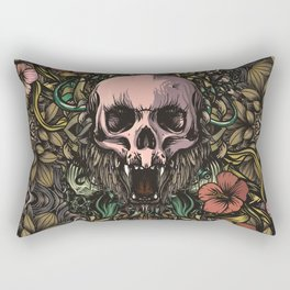 Skull in jungle Rectangular Pillow