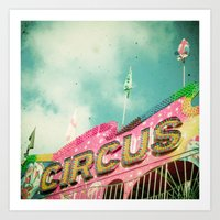 circus Art Prints featuring Circus by Cassia Beck