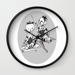 Pumpkin carving Wall Clock
