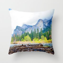 Yosemite Mood Throw Pillow