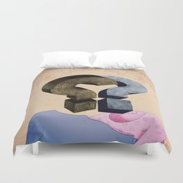 french kiss. question series Duvet Cover