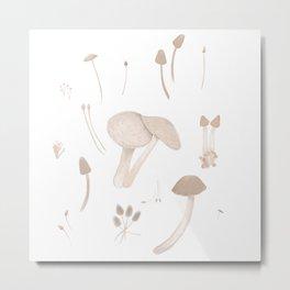 mushroom field Metal Print