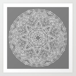 Family: forever intertwined (gray) Art Print