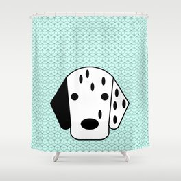 Pop Dog Dalmatian Shower Curtain
