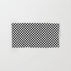 Black White Checks Hand & Bath Towel