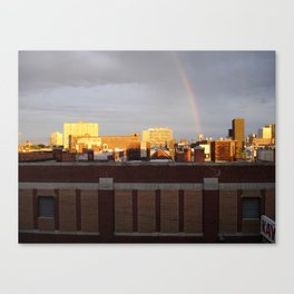 A photo out of the window of my old loft. Canvas Print