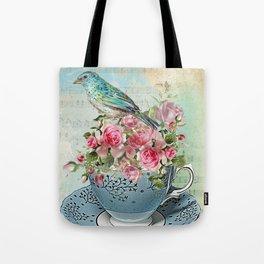 Tea Flowers #5 Tote Bag