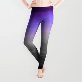 Purple Gray Black Smooth Ombre Leggings