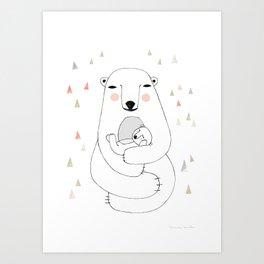 Mummy bear Art Print