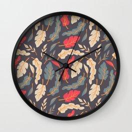 Vintage Floral Pattern 009 Wall Clock