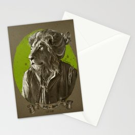 Jay the Lion - leo bun Stationery Cards