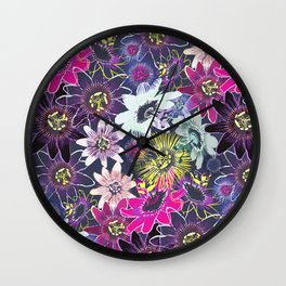 Passion Flower Bright Wall Clock