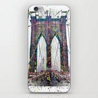 brooklyn bridge iPhone & iPod Skins featuring brooklyn bridge by Vector Art