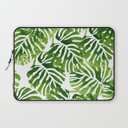 Tropical Leaves - Green Laptop Sleeve