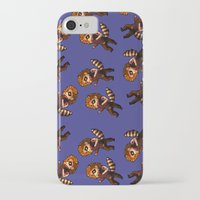 bucky iPhone & iPod Cases featuring RACCOON BUCKY by zombietonbo
