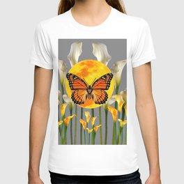 FANTASIC MONARCH BUTTERFY MOON & CALLA LILIES T-shirt