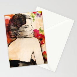 Lucy in flower fields Stationery Cards