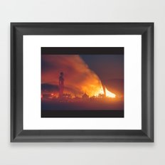 She Burns Framed Art Print