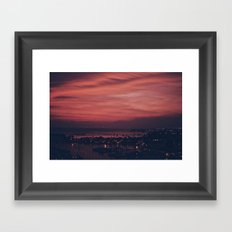 Fire Sky Framed Art Print
