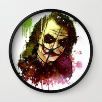 joker Wall Clocks featuring Joker by Sirenphotos