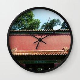 Beijing Red II Wall Clock