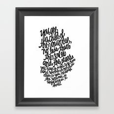 Desiderata Framed Art Print