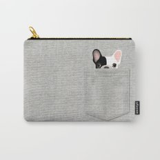 Pocket French Bulldog - Pied Carry-All Pouch