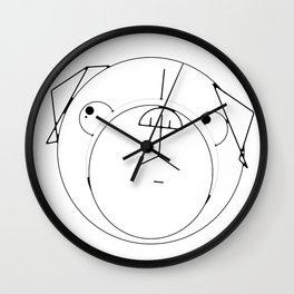 Pug Crop Cirlces Wall Clock