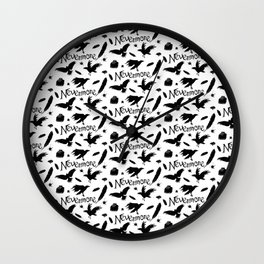Edgar Allen Poes The Raven Nevermore Illustration Wall Clock