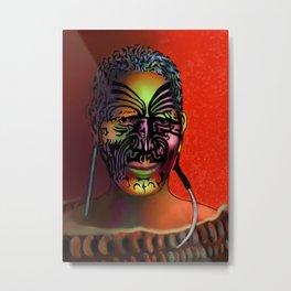 Maori Warrior 3 Metal Print