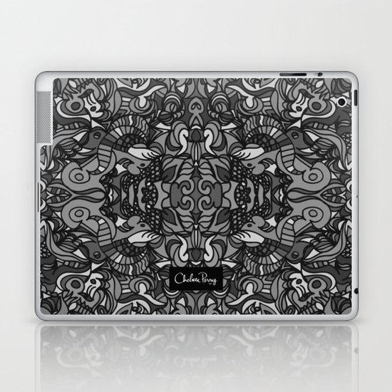 Top Hat Black and White Laptop & iPad Skin