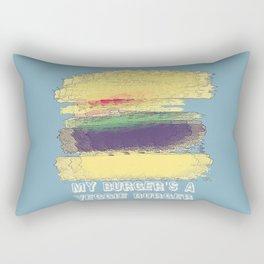 Veggie Burger (blue) Rectangular Pillow