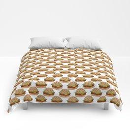 Hamburger - BBQ Doodle Pattern Comforters