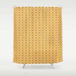 Amber Gold Gemstone Pattern Shower Curtain
