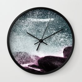 Navy Blue Sea Water Wall Clock