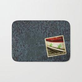 STICKER OF SYRIA flag Bath Mat