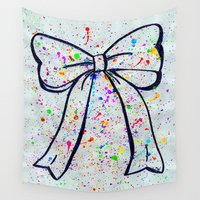 bow Wall Tapestries featuring Bow by T. Tamaiiya