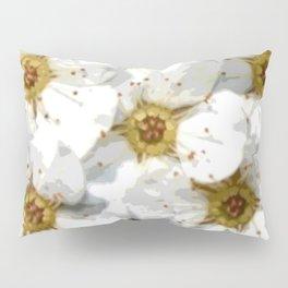 Flowers | Flower | Nadia Bonello | Vintage Inspired White Flowers Pillow Sham