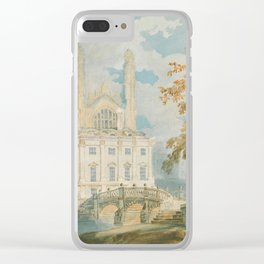 "J.M.W. Turner ""Clare Hall and King's College Chapel, Cambridge, from the Banks of the River Cam"" Clear iPhone Case"