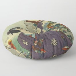 A May day of twelve months Floor Pillow