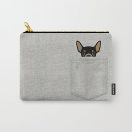 Pocket Chihuahua - Black Carry-All Pouch