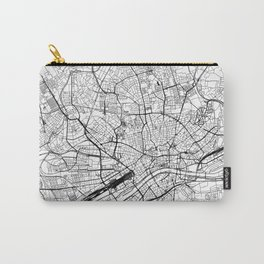 Frankfurt White Map Carry-All Pouch