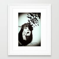 bats Framed Art Prints featuring Bats by Nuria Mrtz. FotoArt