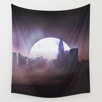 skyline Wall Tapestries featuring Skyline by Frank Kupshik