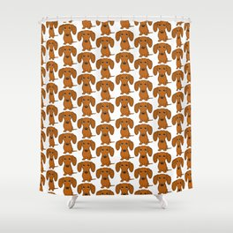 Shorthaired Dachshund Cartoon Dog Shower Curtain
