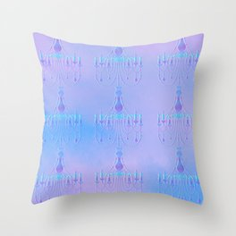 Embossed Chandelier Throw Pillow