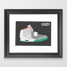Minimalist Sneaker Print Framed Art Print