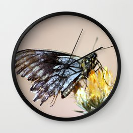 Butterfly with torn wings Wall Clock