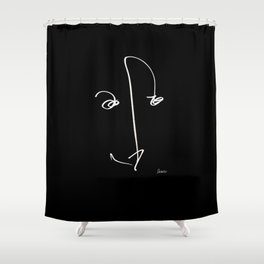 Demeter Moji d1 3-1 b Shower Curtain